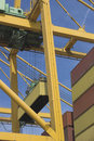 Gantry cranes loading containers Royalty Free Stock Photo