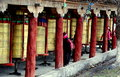 Ganzi, China: Tibetan Prayer Wheels Royalty Free Stock Photo
