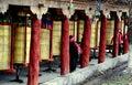 Ganzi, China: Tibetan Prayer Wheels Royalty Free Stock Photo