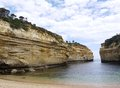 A gap at the beach of the great ocean gorge loch ard gorge is part port campbell national park road in victoria in australia Royalty Free Stock Photography