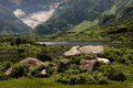 Gap of dunloe the in the killarney national park in ireland is very remote and attractive Royalty Free Stock Images