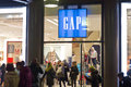 Gap shop in the fashion district in milan italy Stock Photos