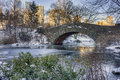 Gapstow bridge central park new york city is one of the icons of manhattan in Stock Photos