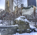 Gapstow bridge central park new york city is one of the icons of manhattan in Royalty Free Stock Photos