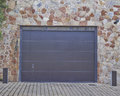 Garage door athens suburbs greec modern house greece Royalty Free Stock Photo