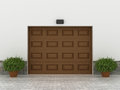 Garage doors brown concept Royalty Free Stock Images