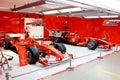 Garage of Formula 1 team ferrari Royalty Free Stock Photo