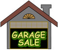 Garage Sale glow opt Royalty Free Stock Image