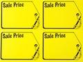 Garage sale price sign Stock Photos