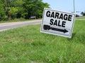 Garage sale sign Royalty Free Stock Photo