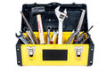 Garage tool box workisolated work in isolated Royalty Free Stock Photography