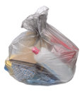 Garbage bag on white background Royalty Free Stock Image