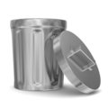 Garbage basket on white background Stock Images