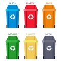 Garbage can Separation of waste. Disposal refuse rubbish bin. vector