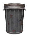 Garbage can vector grunge on white background eps file gradient mesh and transparency used Stock Image