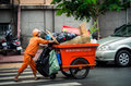 Garbage collector in Ho Chi Minh City, Vietnam