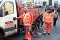 Garbage collectors Stock Images