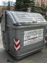 Garbage containers, processing industry and separation of plasti Royalty Free Stock Photo