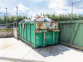 Garbage containers in a tip Royalty Free Stock Photography