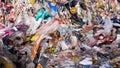 Garbage dump. Close up. Enviroment pollution concept.