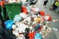 Garbage everywhere in shenzhen baoan xixiang china Royalty Free Stock Photos
