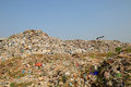 Garbage heap problem of pollution Royalty Free Stock Photos