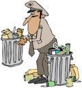 Garbage man Royalty Free Stock Photo