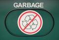 Garbage receptacle door with no recyclables Stock Photos
