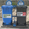 Garbage and Recycling Containers Royalty Free Stock Photo
