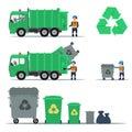 Garbage recycling set