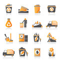 Garbage and rubbish icons vector icon set Royalty Free Stock Photography