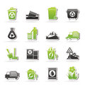 Garbage and rubbish icons vector icon set Royalty Free Stock Images