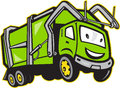 Garbage Rubbish Truck Cartoon Stock Images