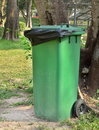 Garbage trash bin in the park Royalty Free Stock Photos