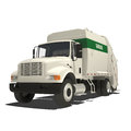 Garbage truck isolated on white Royalty Free Stock Photography