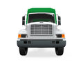 Garbage truck on white background d render Royalty Free Stock Photo
