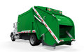 Garbage truck on white background d render Stock Images