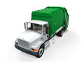Garbage truck on white background d render Royalty Free Stock Photography