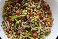 Garbanzo Bean Salad, close-up Royalty Free Stock Photo