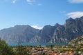 The garda lake lago di garda in italy houses and buildings near Royalty Free Stock Photo