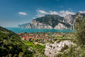 Garda lake lago di garda is the most popular in northern italy and is visited by thousands of tourists every summer the has over Royalty Free Stock Photography