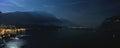 Garda lake night panorama Royalty Free Stock Photo