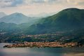 Garda lake view on toscolano maderno italy Royalty Free Stock Images