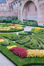 Garden in albi formal france Royalty Free Stock Images