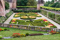 Garden at albi formal the museum in france Royalty Free Stock Photos
