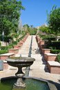 Garden of Alcazaba of Almeria in Andalusia, Spain, on a sunny day Royalty Free Stock Photo