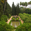 Garden in Alcazar Palace Royalty Free Stock Images