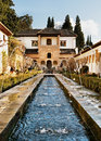 Garden of the Alhambra, Spain Stock Photo