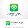 Garden App Logo Template Design Vector, Emblem, Design Concept, Creative Symbol, Icon
