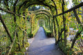 Garden arches and path Stock Photography